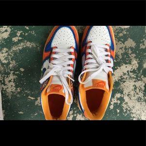 CUSTOM Nike Dunk Low Premium Orange-Blue MENS 8.5